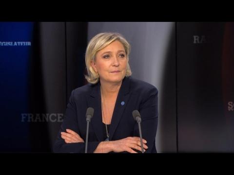 """Marine Le Pen : """"François Fillon est un homme d'argent"""""""