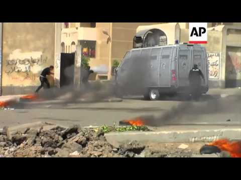 Violent clashes erupted Tuesday in the Egyptian capital between supporters of ousted President Moham