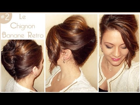 2 le chignon banane retro l a hairstyle inspiration youtube. Black Bedroom Furniture Sets. Home Design Ideas