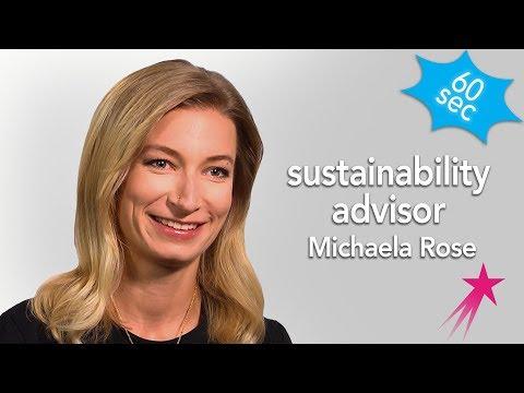 Sustainability Advisor | Michaela Rose Career Girls Role Model