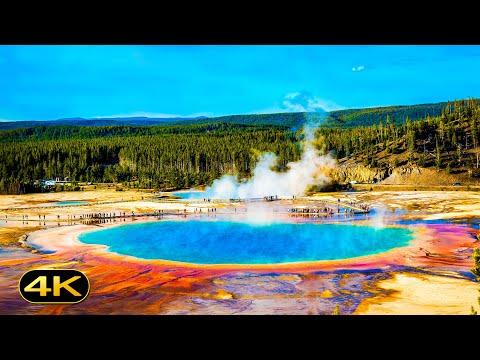 Top 20 Yellowstone National Park Geysers, Hot Springs & Waterfalls | 4K (Ultra HD)