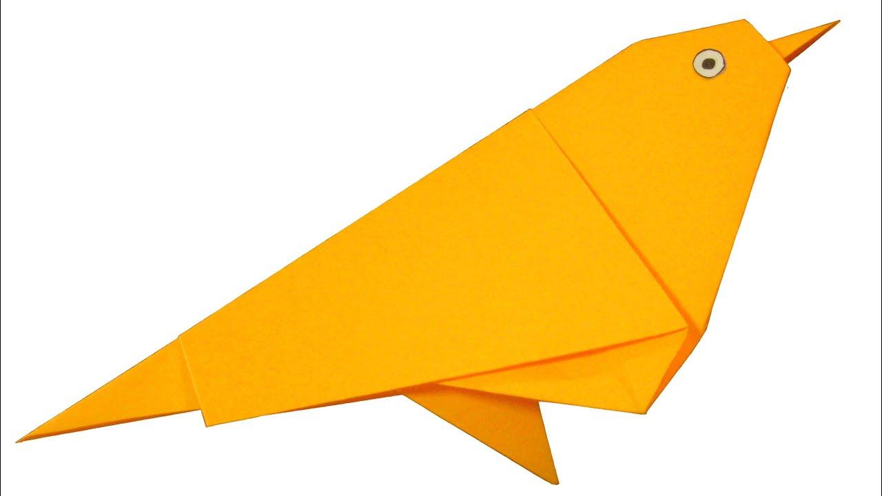 Схема воробей оригами