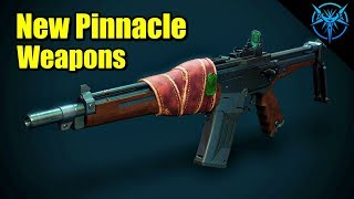 New Pinnacle Weapons! Breakneck, Mountaintop, Loaded Question - Destiny News