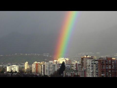 Amazing rainbow in Santiago de Chile