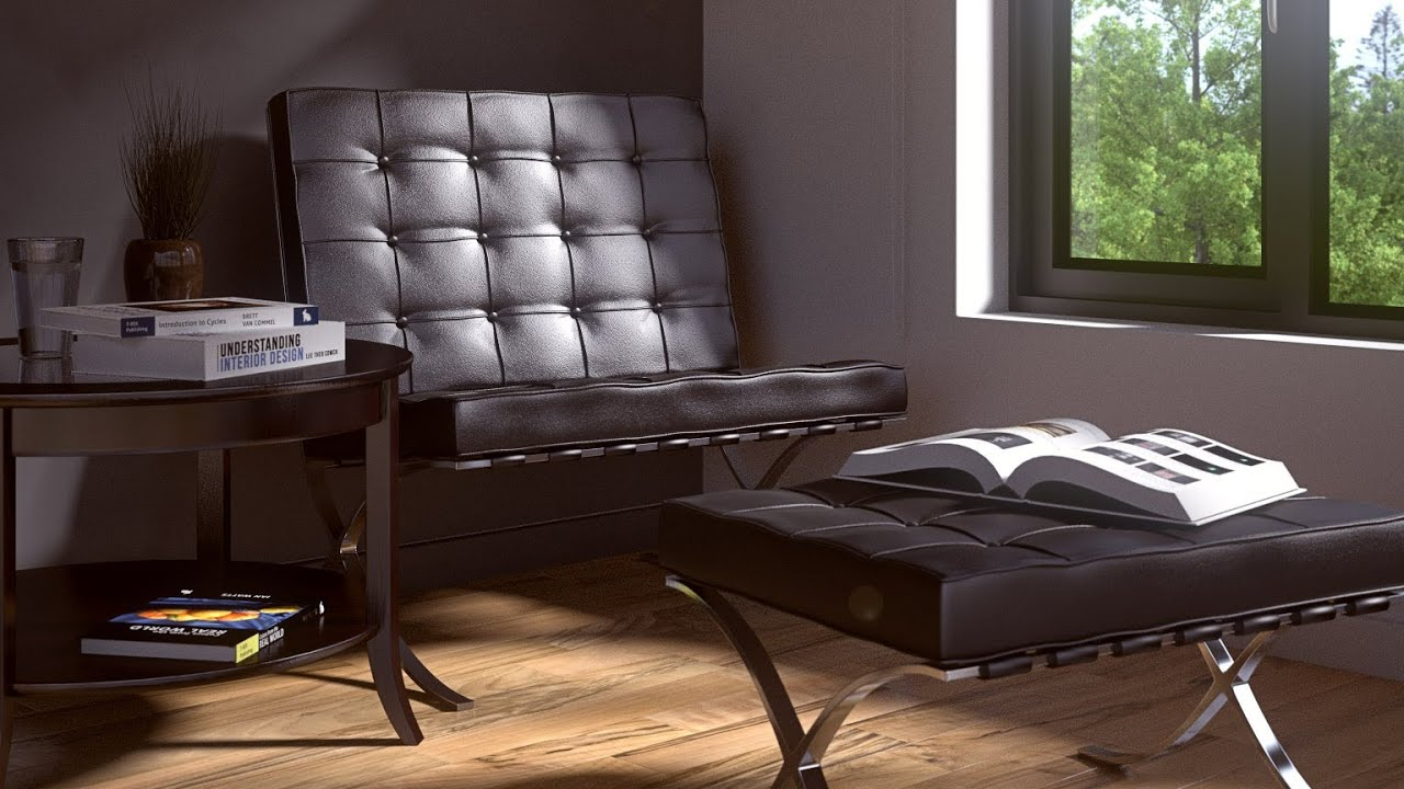 How to make a simple lounge room in blender youtube for Room modeling software