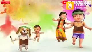 Happy Holi cartoon video Hindi 2019 Indien Billu dk