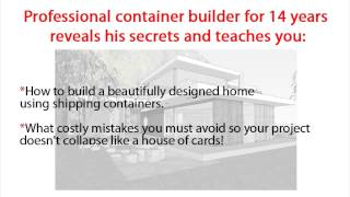 Build Cargo Container Home Diy | Build Your Own Container Home Quick And Easy