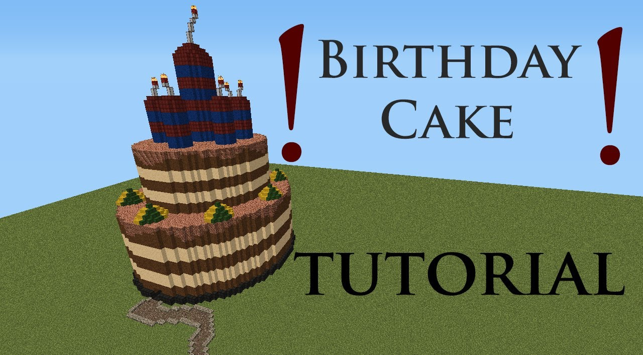 Minecraft Tutorial Birthday Cake Hd Youtube