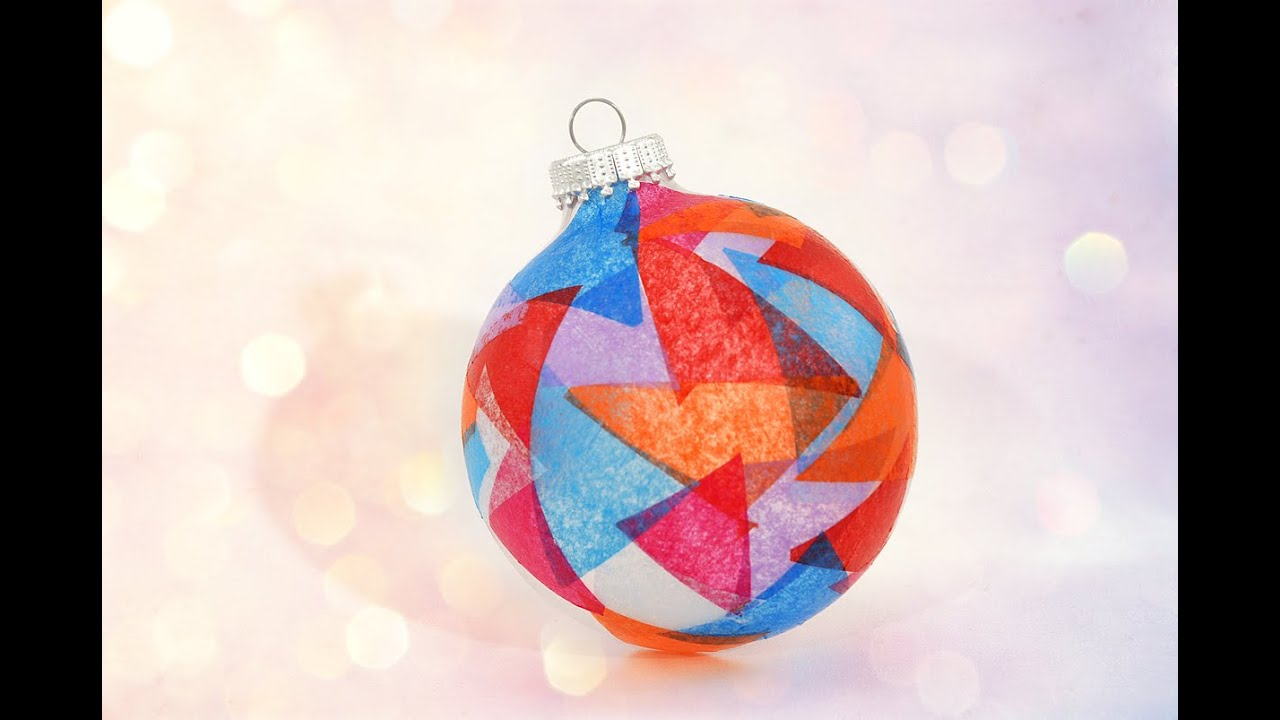 Charming Christmas Stained Glass Ornaments Part - 11: How To Make A Stained Glass Christmas Ornament