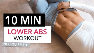 10 MIN LOWER AB WORKOUT / No Equipment I Pamela Reif