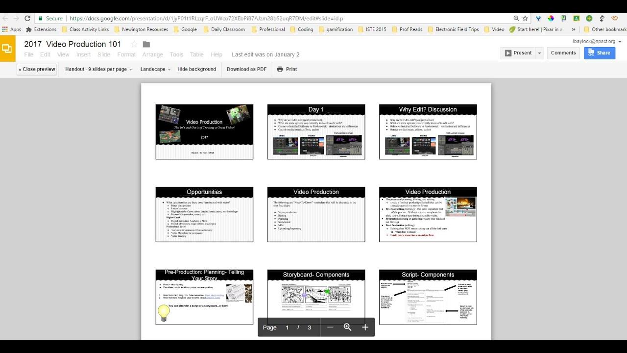 multiple slide page on page google slides print or share youtube