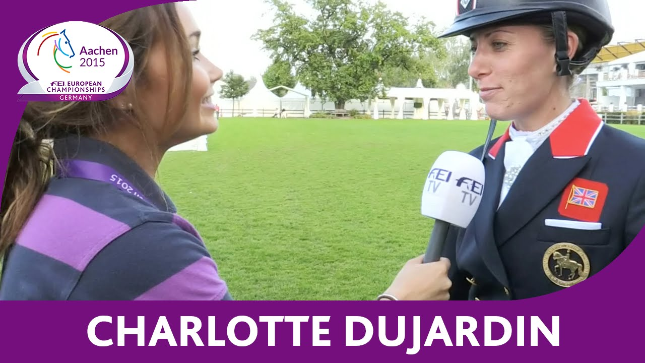 Interview charlotte dujardin sienna at the euros for Dujardin interview
