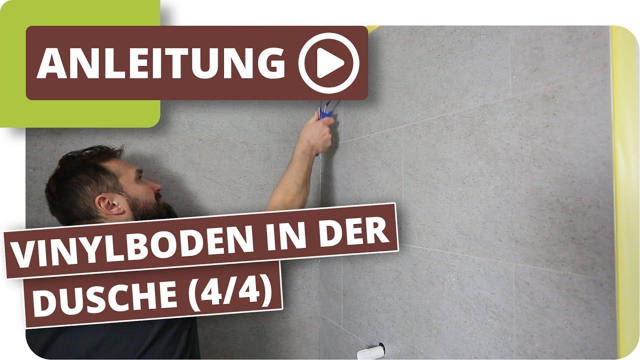 Vinylboden in der Dusche - Vinylboden versiegeln (Teil 4/4)