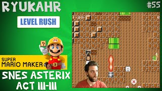 SNES Asterix Act III-III Pyramid   Super Mario Maker   Level Reaction Ep. 55
