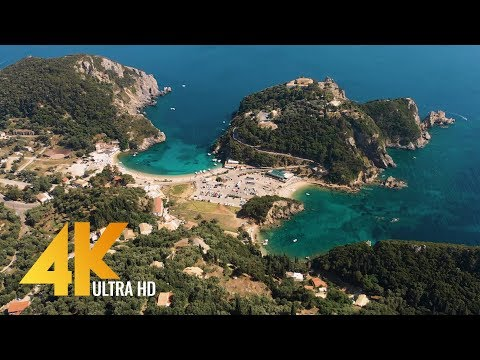 Greece Aerial 4K - Bird's Eye View of Santorini, Corfu and Athens - 3 HOUR Ambient Drone Film