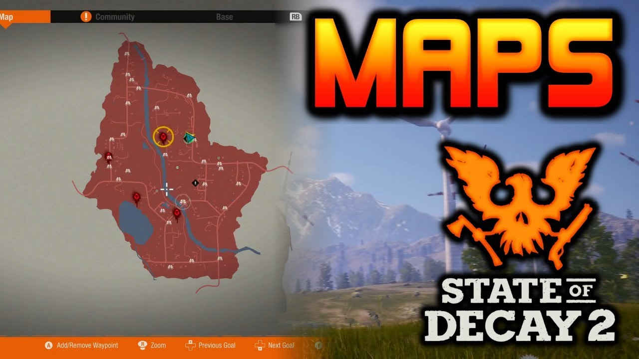 ALL 3 MAPS  New Locations   MORE   State of Decay 2   YouTube ALL 3 MAPS  New Locations   MORE   State of Decay 2