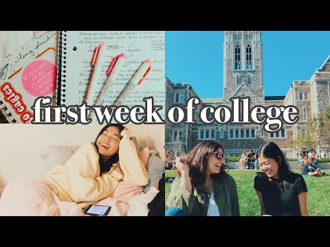 FIRST WEEK OF COLLEGE|boston College Vlog