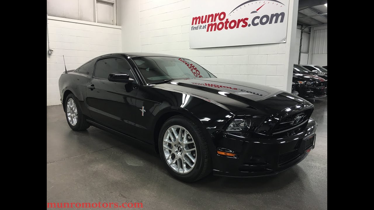 2015 Mustang Wheels >> 2014 Ford Mustang V6 Premium Leather SOLD Shaker 500 SYNC 8897 KMS Munro Motors - YouTube