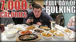 7,000 CALORIES!! Full Day of Bulking
