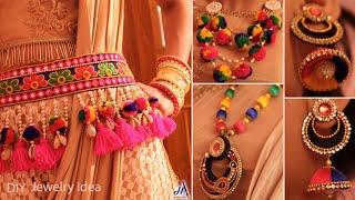 Easy !!! Designer Jewelry Idea || DIY Navratri Jewelry Making Idea