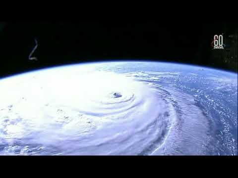 A high definition camera outside of the International Space Station captures the massive size of Hurricane Florence over the Atlantic Ocean.