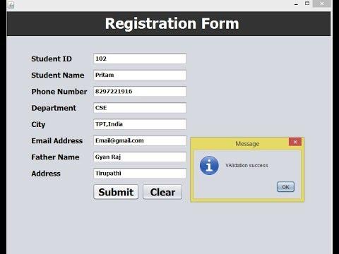 registration-form-validation-in-java-netbeans