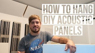 How to hang diy acoustic panels from ceiling to wall