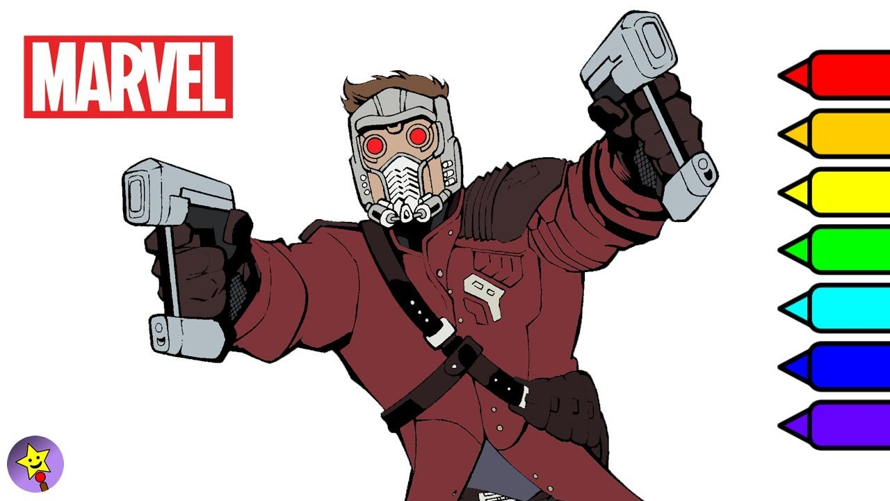 Marvel Guardians Of The Galaxy Coloring Book Star Lord Page
