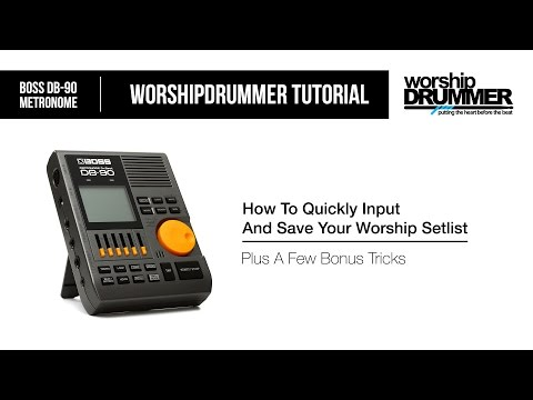 Boss DB 90 Metronome: How To Quickly Input And Save Your Worship Setlist
