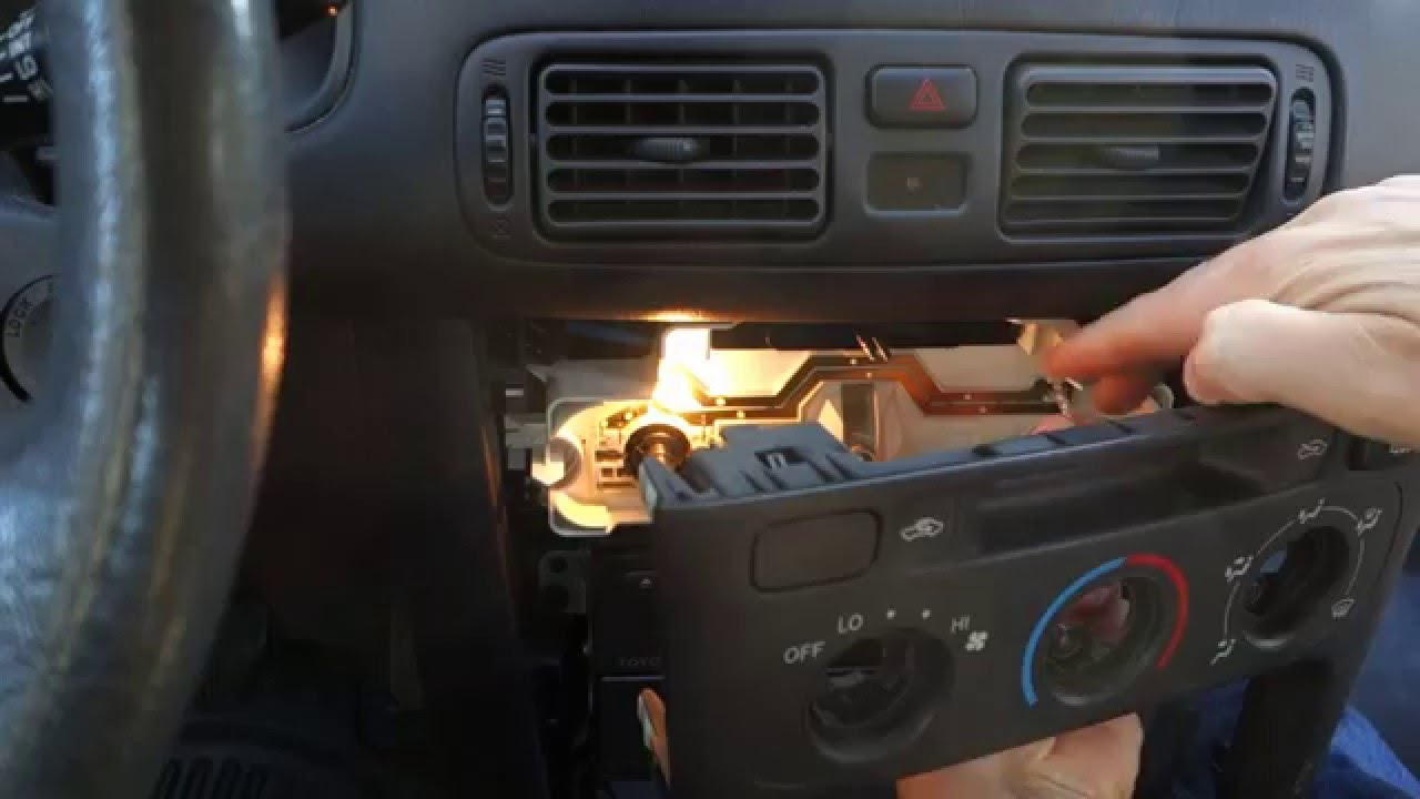 hight resolution of how to replace fan and temp dashboard bulbs toyota corolla