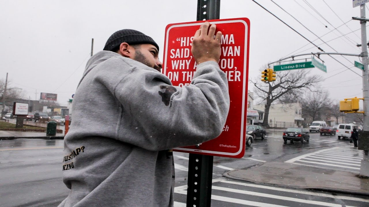 Jay Shells Drops Rap Quotes His Most Site Specific Street Art