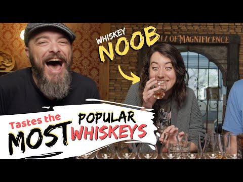 A NOOB Tastes The MOST POPULAR Whiskeys (U.S. Sales) | WHISKEY CURIOUS