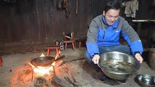 【鑫哥】好久没吃鱼了,在表哥家弄了几条鱼,打打牙祭