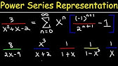 Power Series - Finding the Interval of Convergence - YouTube