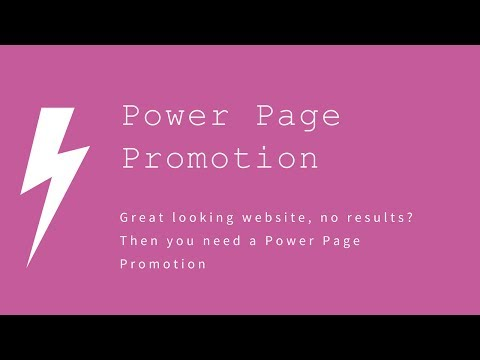 Power Page Promotion is an internet marketing strategy for nice designed website not getting results