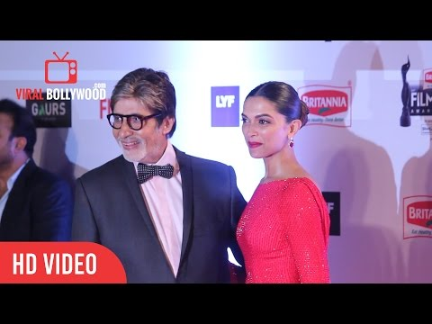 deepika-padukone-&-amitabh-bachchan-at-filmfare-awards-2016-|-red-carpet