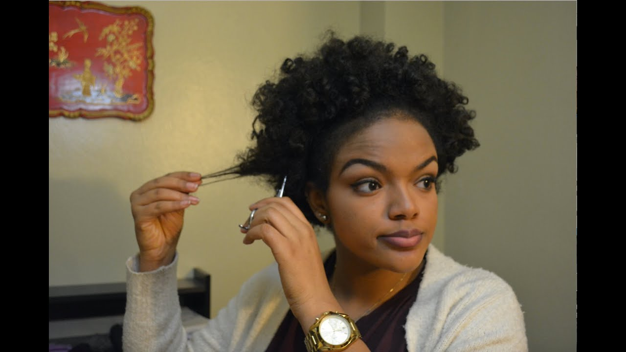 Cutting Off Damaged Natural Hair