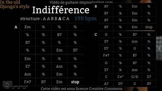 Indifférence (190 bpm) - Gypsy jazz Backing track / Jazz manouche