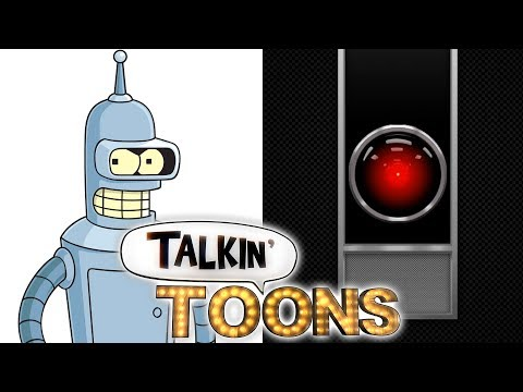 John DiMaggio Does Bender as HAL 9000 in 2001: A Space Odyssey! Talkin' Toons w Rob Paulsen