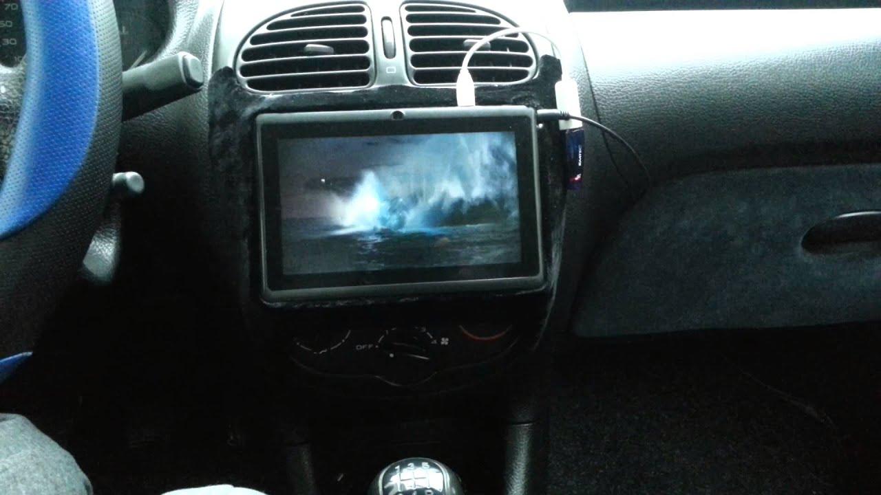 Tablet Allwinner A13 Su Peugeot 206 Youtube