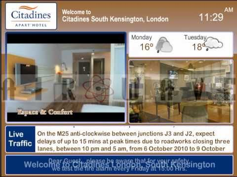 Hotel Information Channel - Digital Signage for Hotels, Video Demo by  Airwave Europe Ltd
