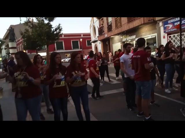 Peña Zas en toda la bota - Fiestas del Vino Valdepeñas 2017