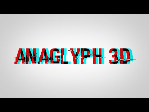 How to Make ANAGLYPH 3D Text - YouTube