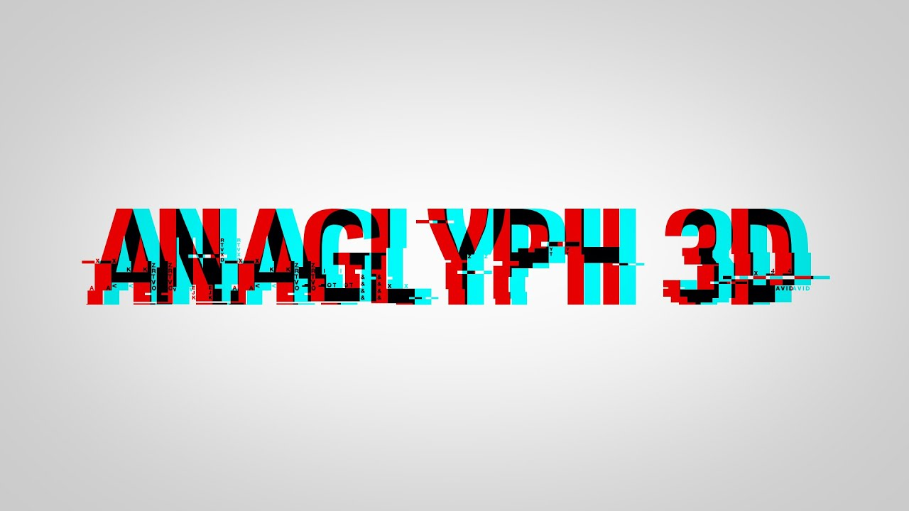 How to Make ANAGLYPH 3D Text