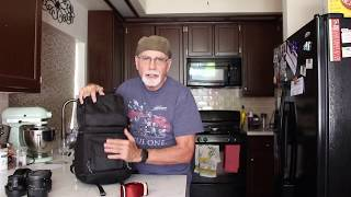 My Favorite Travel Camera Backpack, Lowepro Fastpack BP 150 AW Travel ready backpack.