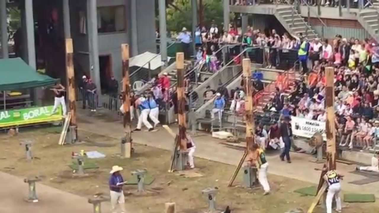 Woodchopping sydney royal easter show 2015 youtube for Pool show 2015 sydney