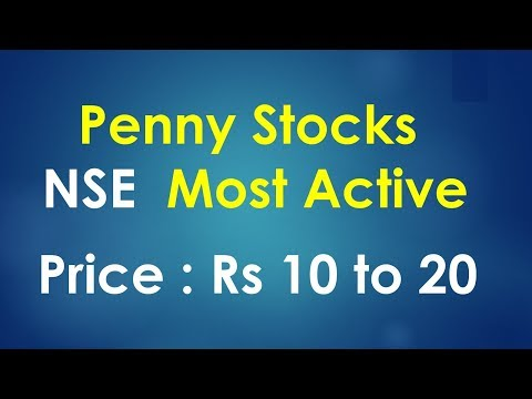 Most Active Penny stocks in NSE Segment  : Indian stock market