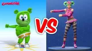 Cover images FORTNITE DANCE CHALLENGE with Gummy Bear and Friends - Gummibär The Gummy Bear Song