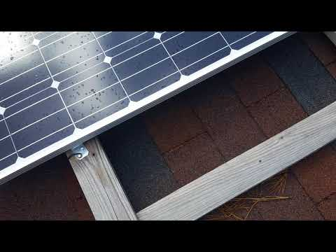 Inexpensive solar panel roof mounts.