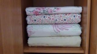 Как гладить постельное белье. Пододеяльник(Полезные советы по упорядочению http://babairisha.ru/category/uporyadochenie-3/ на сайте Утилитарное рукоделие., 2013-01-28T07:27:35.000Z)